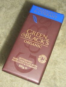Green & Black's Hazelnut & Currant