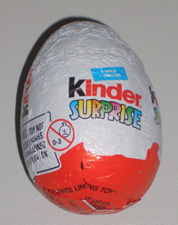 Despite the fact there's hardly any chocolate in a kinder surprise