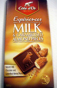 Cote d'Or 'Experiences' Milk & Caramelised Almond