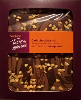 Sainsbury's Dark Chocolate & Honeycomb Slab