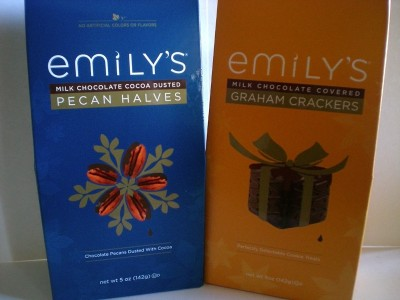 Emily's Chocolate Pecans and Graham Crackers