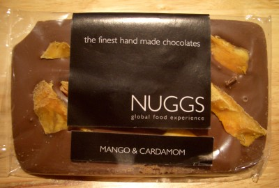 Nuggs Mango & Cardamom Milk Chocolate Slab