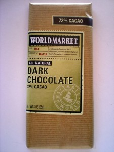 World Market Dark Chocolate 72%