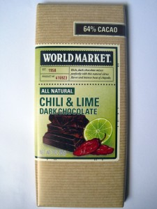 World Market Chili and Lime Dark Chocolate