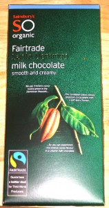 Sainsbury's So Organic Fairtrade Milk Chocolate