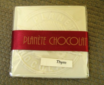 Planète Chocolat White Chocolate with Thyme