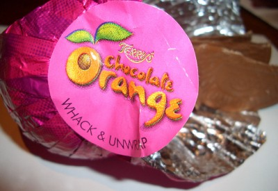 Terry's Volcanic Popping Candy Chocolate Orange