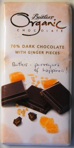 Butlers Organic 70% Dark with Ginger Pieces