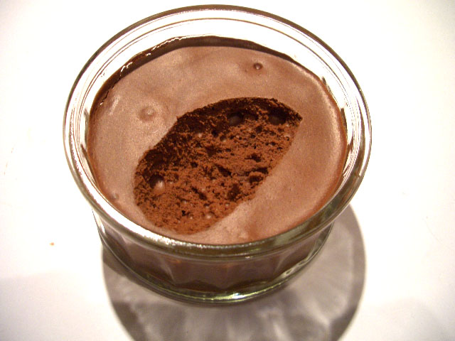 ... chocolate mousse. Scratch the surface and you can see a good amount of