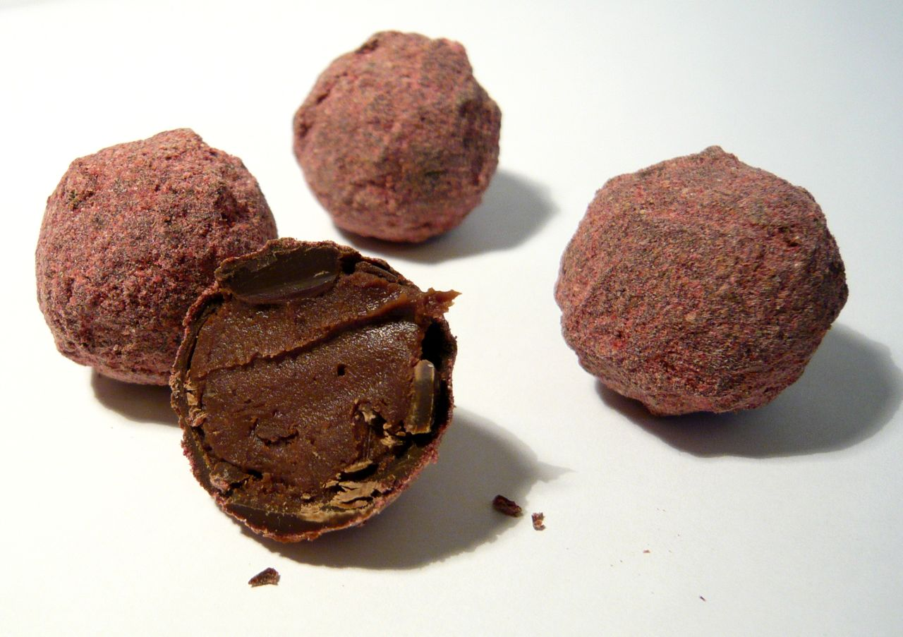 ... truffles with sea salt a chocolate raspberry chocolate covered
