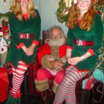 Santa and his sexy helpers