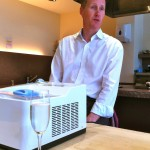Paul with one of the ice cream makers