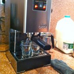 The Gaggia doing its thing