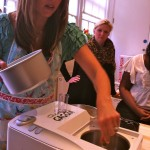 Jo explains how the ice cream maker works