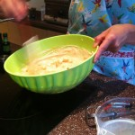 Jo making ice cream