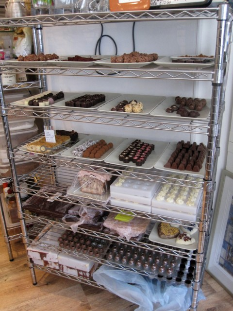 Thinking Chocolate - Rack of Chocolates