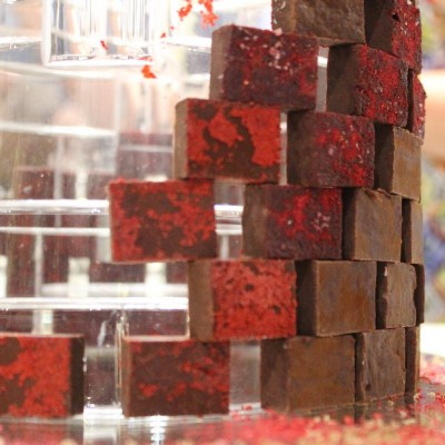 A wall of ganache by Iain Burnett at the gbscc2015hellip