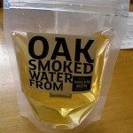 A new product, made using smoke from the salt smoker and distilled sea water.