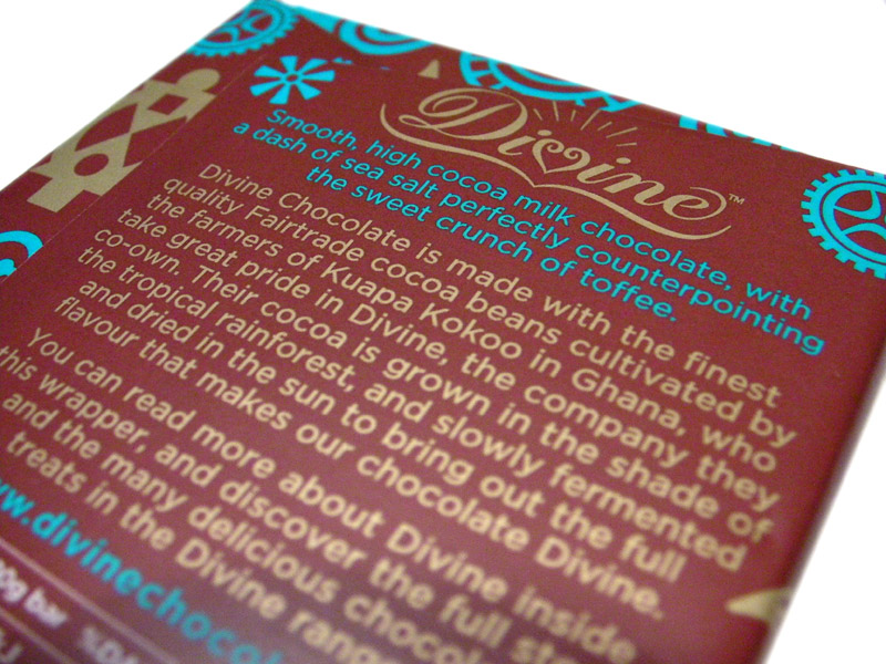 Divine Milk Chocolate With Toffee & Sea Salt