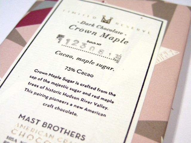 Mast Brothers Crown Maple