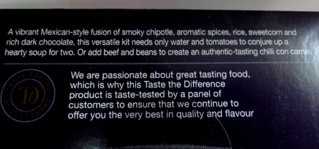 Sainsbury's Taste The Difference Mexican Chipotle Soup