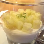 Coconut Panna Cotta with Pineapple Salsa