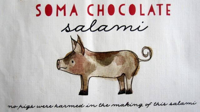 Soma Chocolate Salami - Label
