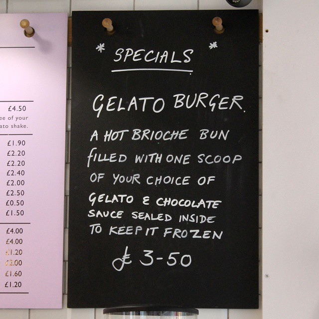 Burger or ice cream? Now you don't have to decide between them.. #gelato  #burger #gelatoburger