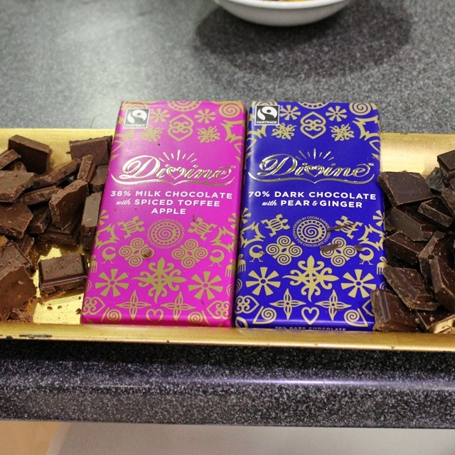 Have to confess I was quite partial to these Christmas flavours from @@divinechocolate