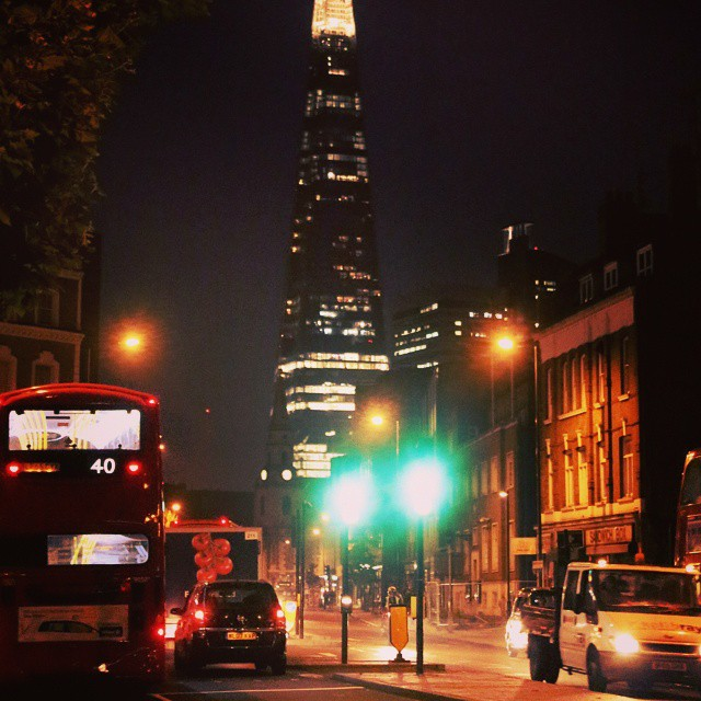 Waking home. #london #londonbridge #shard