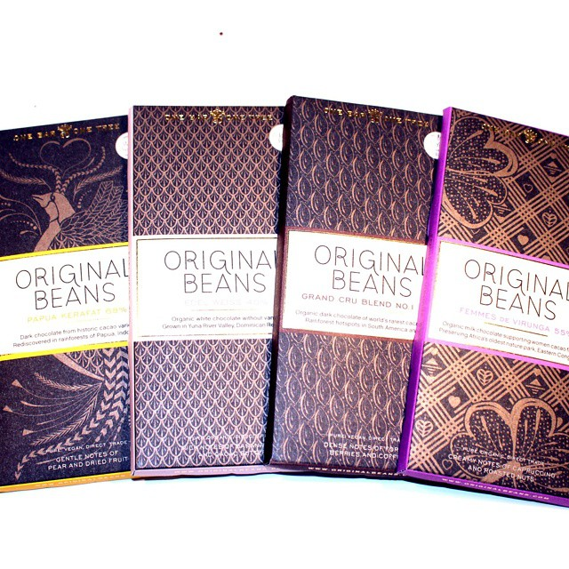 Four beautiful new bars from Original Beans. #chocolate