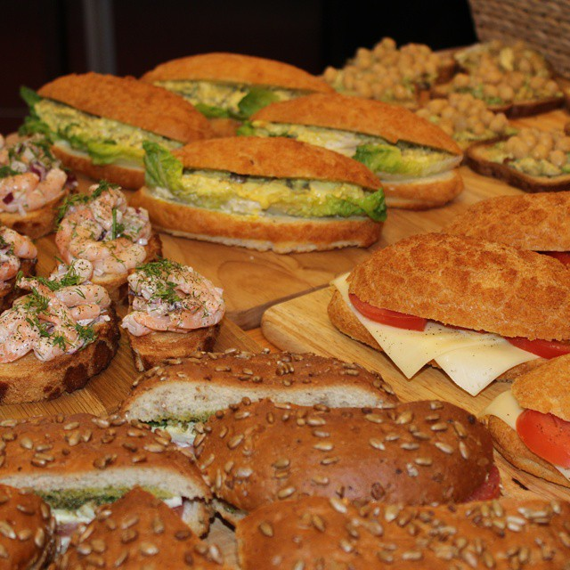Delicious looking sandwiches at @rainforestalliance event.