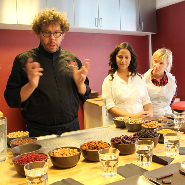 Making chocolates with the amazing Laurent Gerbaud.