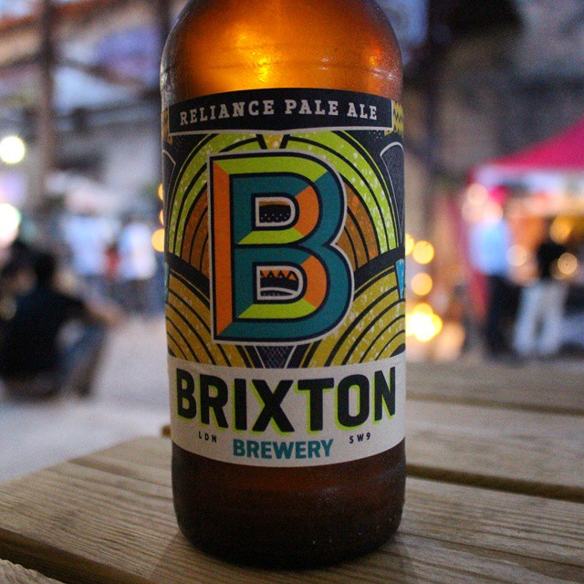 Tasting a @brixtonbrewery Reliance Pale Ale @kerbfood