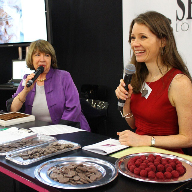 Chocolate Ecstasy tasting with @@chocolatetours at Academy room right now! #TheChocolateShow