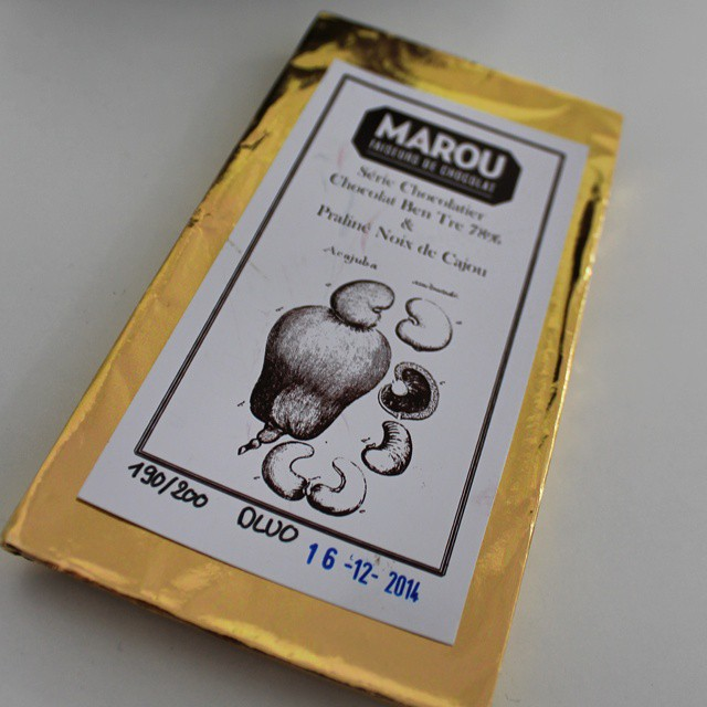 OMG. Cashew praline bar from @marouchocolate