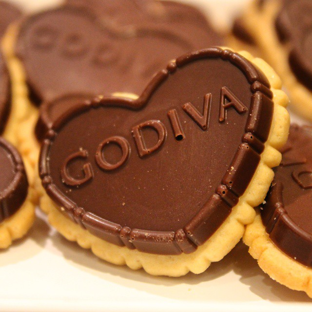 These biscuits at the @@Godiva Christmas preview were actually quite tasty.