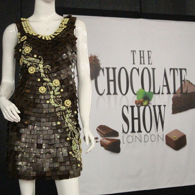 Chocolate dresses at #TheChocolateShow...