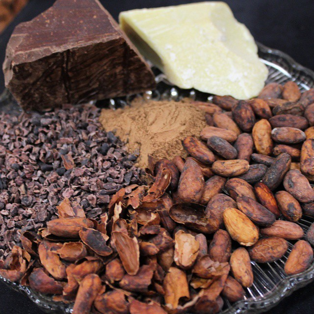 Beans, nibs, cocoa mass, cocoa powder & cocoa butter at @forevercacao #TheChocolateShow