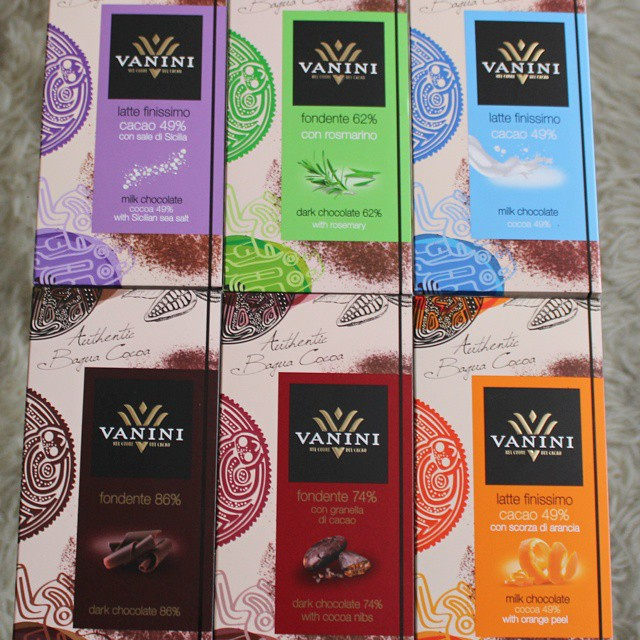 New Vanini (ICAM) range all made with Peruvian cacao.