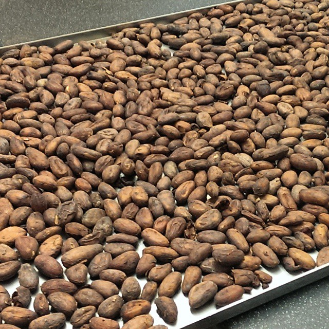 Amazing aroma from these freshly roasted Madagascan beans at HB Ingredients.