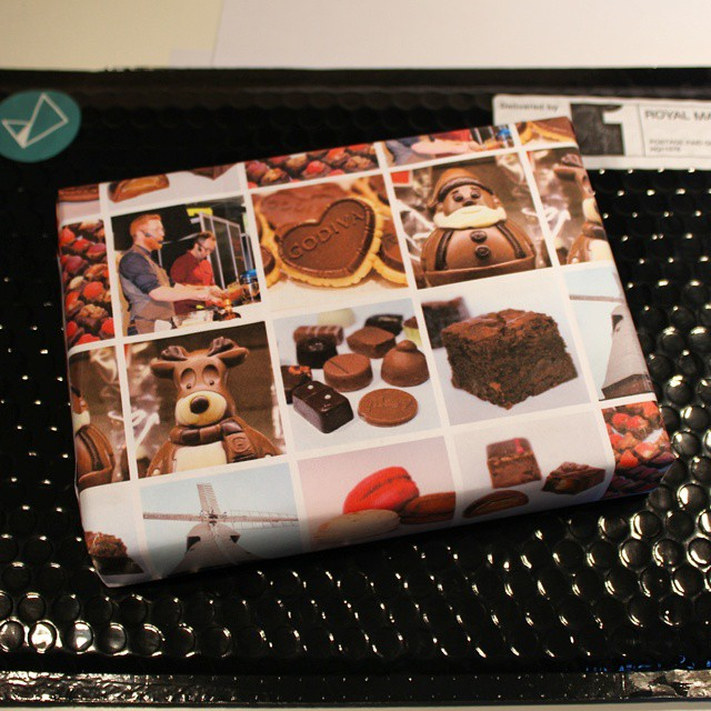 Well that's quite fun. Wrapping paper made from my Instagram photos from wrap.me!