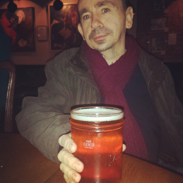 Drinking Lagunitas IPA at @bohemia_n12 - North Finchley's newest hipster joint. Pic by @kaveyf.