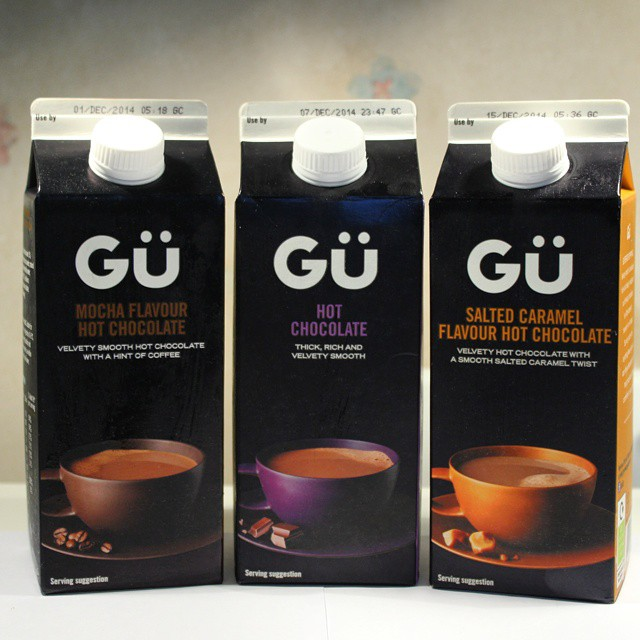 New hot chocolate in cartons from @@gupuds! But which to try first...