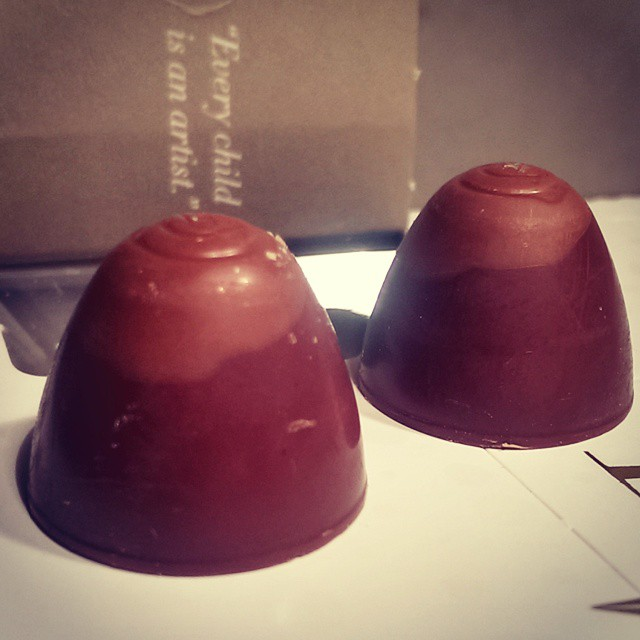 Gingerbread truffles behind Door 2 of my @@hotelchocolat Advent Calendar...