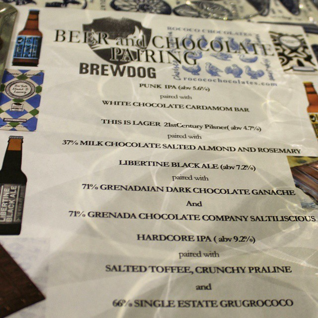 Chocolate & beer pairing at @rococochocolates!