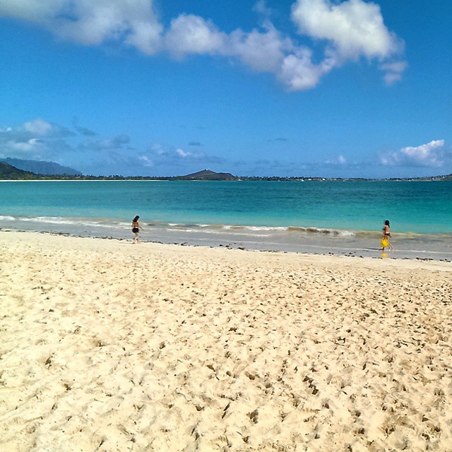 Memories of Hawaii. Lanikai Beach 10 months ago. Want to go back! #muchlatergram