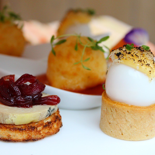 Savouries at @pontst afternoon tea!