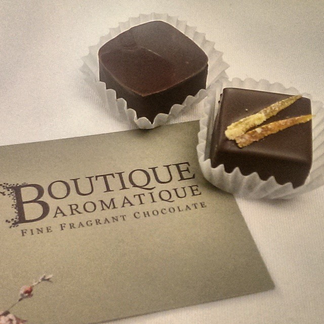 Beautiful and utterly delicious fragrant chocolates from Boutique Aromatic.