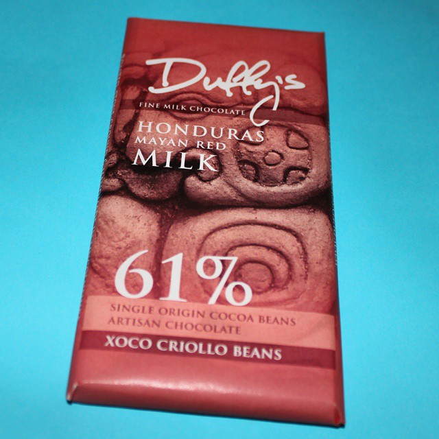 The only thing I bought at @thechocfestival. Duffy's Honduras Mayan Red 61% Milk Chocolate. You should buy some too!